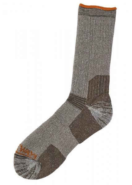 Ultra calf sock,Dark Brown melange